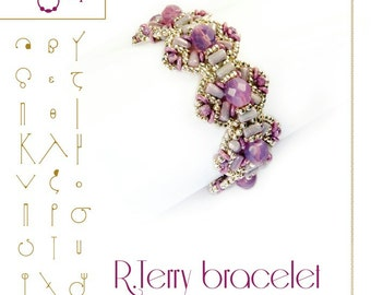 bracelet tutorial / pattern R. Terry bracelet...PDF instruction for personal use only