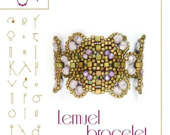 Bracelet  tutorial / pattern Lemuel with cube beads – PDF instruction for personal use only