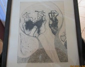 QUIRKY To Say The Least- Signed, Titled,  Limited Edition, Numbered Pen and Ink Drawing
