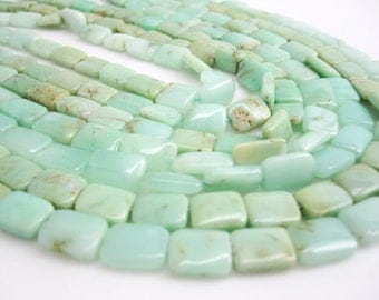 Chrysophrase Beads, Chrysoprase, Pillow Shape, 7mm x 11mm, SKU 3953A