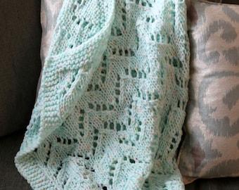 Soft Green Baby Blanket