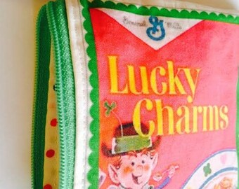 Lucky Charms Cosmetic Bag/Wallet/Phone Case, Retro Cereal Box Wallet