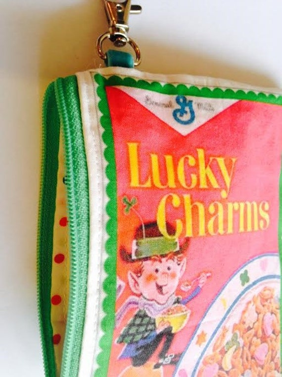 lucky charms cosmetic bag wallet phone retro cereal box