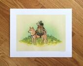 Shiba Inu - Pup adventurer | Print