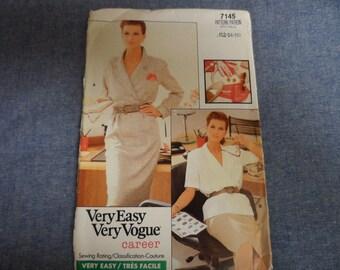 Vogue 7145  Misses Blouse, Jacket, Skirt Pattern Size 12-14-16