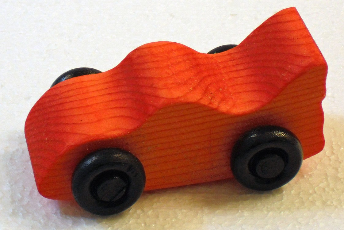 Handmade Toy Car Holder : Handmade wooden racing car toddler toy race