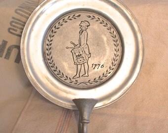 Vintage RWP Wilton Columbia PA USA Pewter 1776 Wall Candle Holder Americana Bicentennial