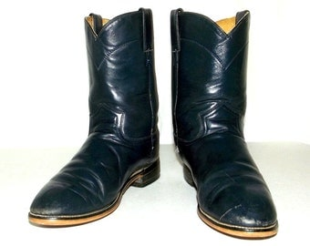 Broken in Dark Blue Roper style Cowboy boots mens size 6 D / womens size 7.5