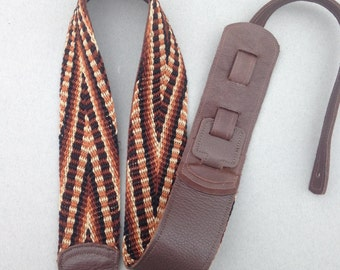 Summer Sale Earthy Tones Guitar Strap Finger Woven