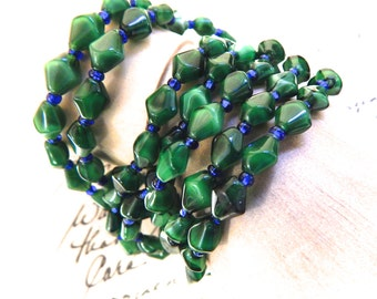 Vintage Glass Stretch Bracelet  Buy Pairs and Save