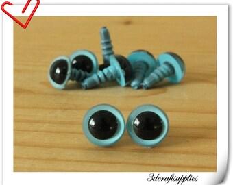 9 mm sky blue  Safety eye amigurumi eye doll eyes cat eye teddy bear eyes 24 pieces EB53