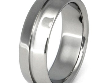 Titanium Wedding Band - n6