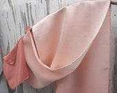 """Silk Scarf Naturally Dyed Madder Ombre Rose Light Pink Salmon Peach Silk Charmeuse Hand Dyed Natural Plant Dye Scarf 10 1/2"""" x 57"""""""