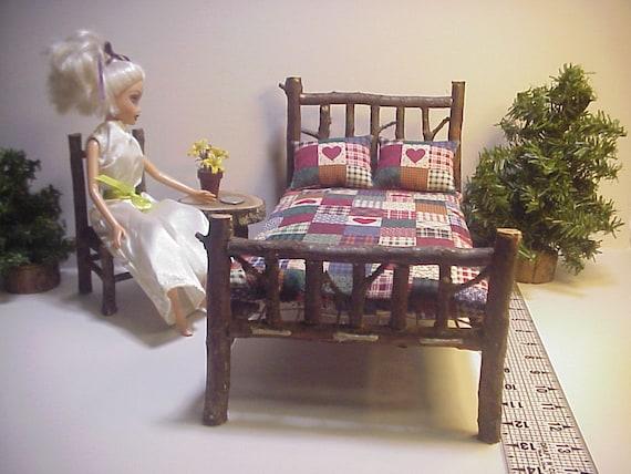 Barbie Bratz BJD Doll Rustic Furniture Bedroom Set 7 Pieces
