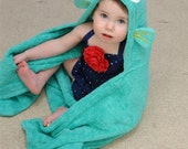 Personalized Tropical fish  hooded towel