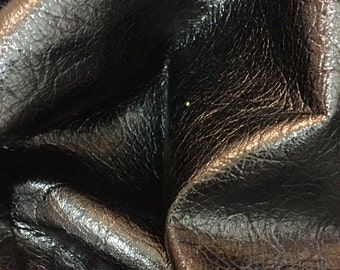Gorgeous black textured shimmery lambskin leather - a full 5 plus square foot hide