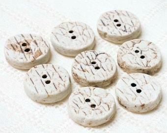 Little Rattlesnake Buttons – Porcelain - Pottery - Clay - Ceramic - Handmade