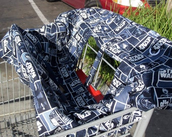 Shopping Cart Cover - Star Wars or your choice of custom fabric
