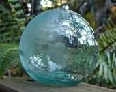 Glass Fishing Float, Aqua Mist, Nautical Decor, Beach Decor, Antique, Glass, Collectible, Coastal Decor, Japanese, Cottage Decor, Ocean, Sea
