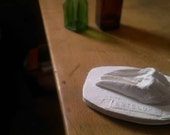 animal tracks: antelope plaster cast (naturalist / natural study)