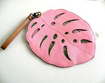 Leaf Pouch Purse