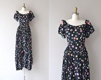 Tiny Bubbles dress | vintage 1930s dress • long polka dot 30s dress