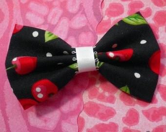 Cherries and Polka Dots Hair Bow