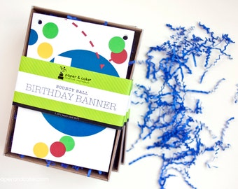 "SHOP THE SHELF Bouncy Ball ""Happy Birthday"" Pennant Banner >> shipped to you 