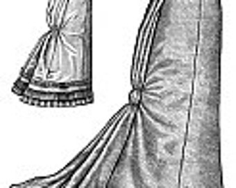 Truly Victorian Ladies 1878 Fantail Skirt Sewing Pattern
