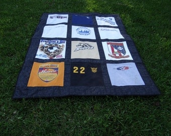 Tee Shirt Quilt with your own 12 Tshirts
