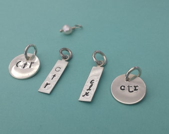 CHOOSE THE RIGHT! Girls with courage and girls with standards choose the right sterling silver charm