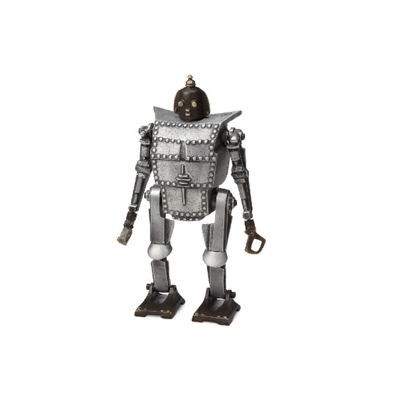 Bob the Robot Coin Bank/Sculpture, Sand cast Aluminum and Bronze
