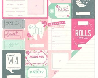 12x12 Double Sided Paper - BABY Themes - 2 Sheets - Choose