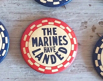 Vintage 30s deadstock marines pin