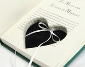 Soul Mates Engagement Ring Holder Hollow Book Box Heart Circle Square Cut Ribbons Ring Bearer Wedding Rings - CUSTOM ORDER