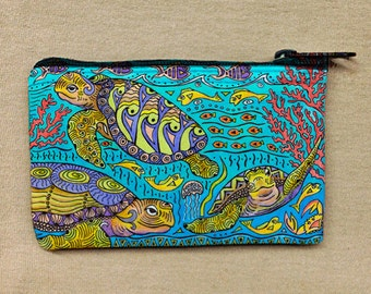 Turtle Time Coin Bag