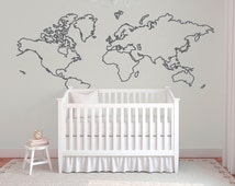 einzigartige artikel zum thema world map outline etsy. Black Bedroom Furniture Sets. Home Design Ideas