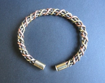 Celtic torc Torque Bracelet Silver Copper Brass Iron  jewelry