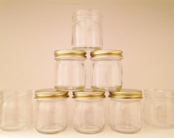 1.25oz Mini Mason Jars - Set of 6 or 12 - With or Without Lids