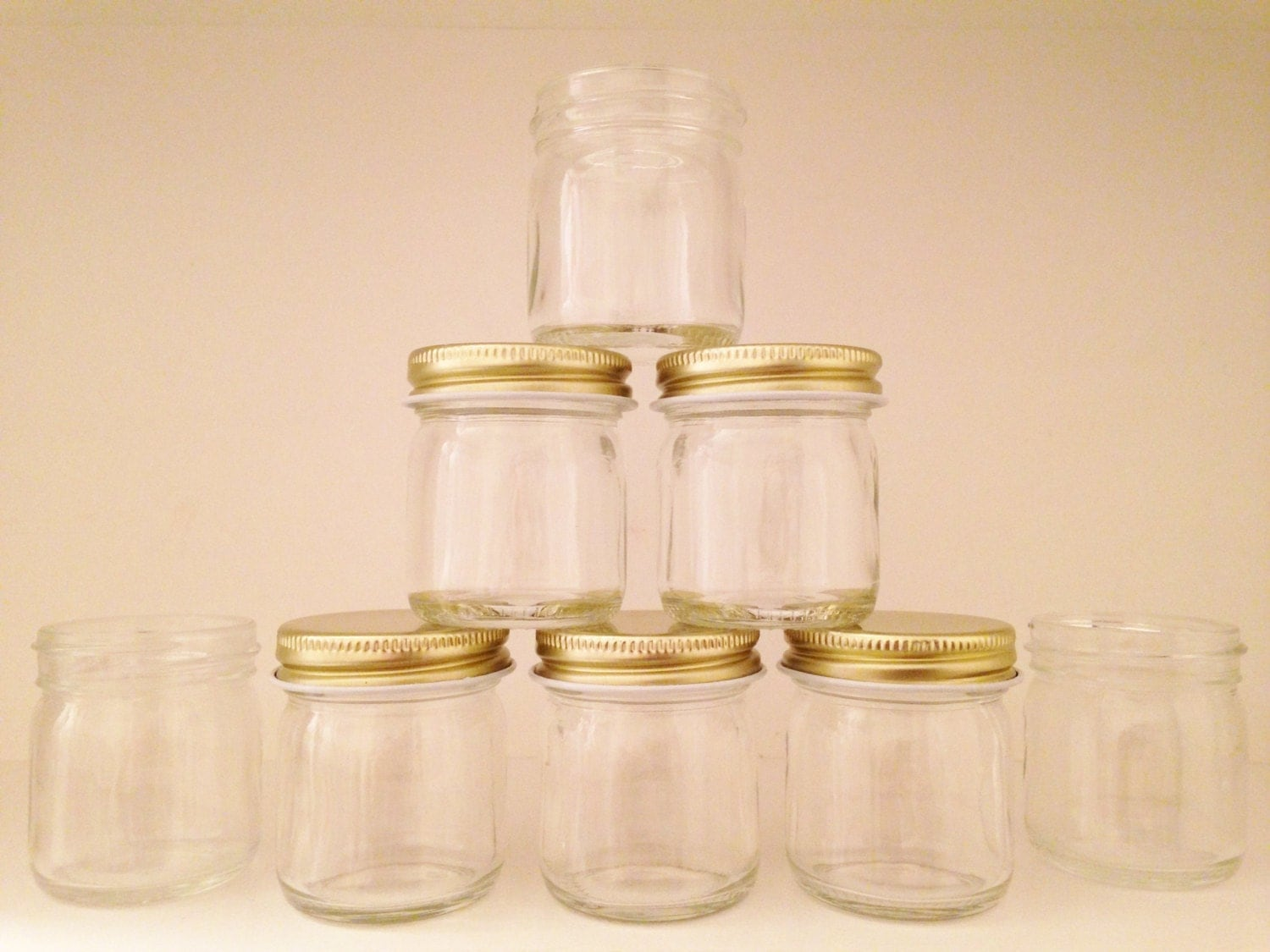 mini mason jars set of 6 or 12 with or without lids. Black Bedroom Furniture Sets. Home Design Ideas