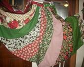 Women's Christmas skirt gored swirl fun skirt size Small, Medium , Large, Xlarge  Plus size 1XL, 2XL,3XL, 4XL up to 57'' waist