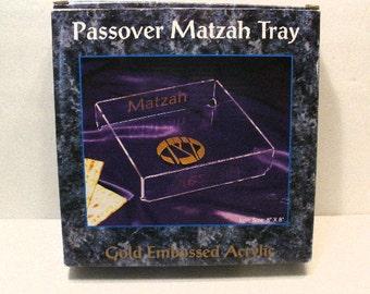 Passover Matzah Tray Acrylic
