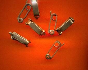 Vintage 10 Copper Art Deco Fold Over Clasps 13X4X4MM Q3L B