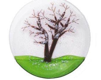 Cherry Blossom Tree Glass Bowl