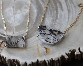Custom Natural Dendritic Quartz Necklace