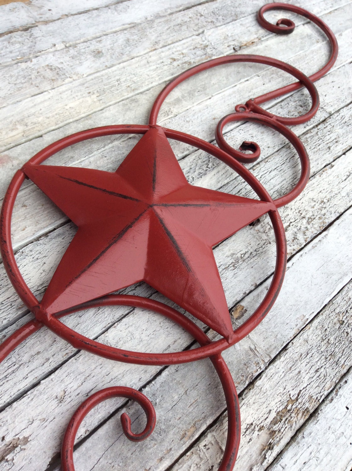 metal star wall decor red home decor texas star by camillacotton. Black Bedroom Furniture Sets. Home Design Ideas