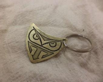 Bladerunner inspired Brass Keychain