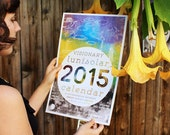 2015 Visionary LuniSolar Eco-friendly Wall Calendar in collaboration with Dave Van Patten, printed on banana paper
