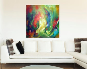 Elementals of Fire - Wealth of Beauty - Original painting by Bettina