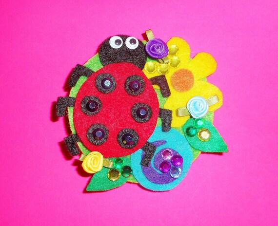 Fabulous Felt Ladybug Barrette
